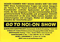 NO!-ON show, Berlin 2003